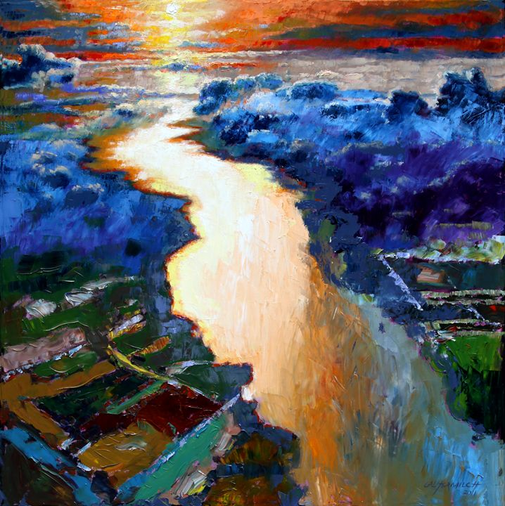 There Is A River - Paintings by John Lautermilch