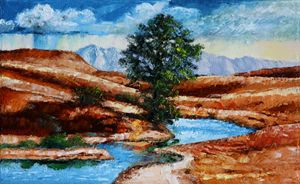 Tree Near Living Waters - Paintings by John Lautermilch