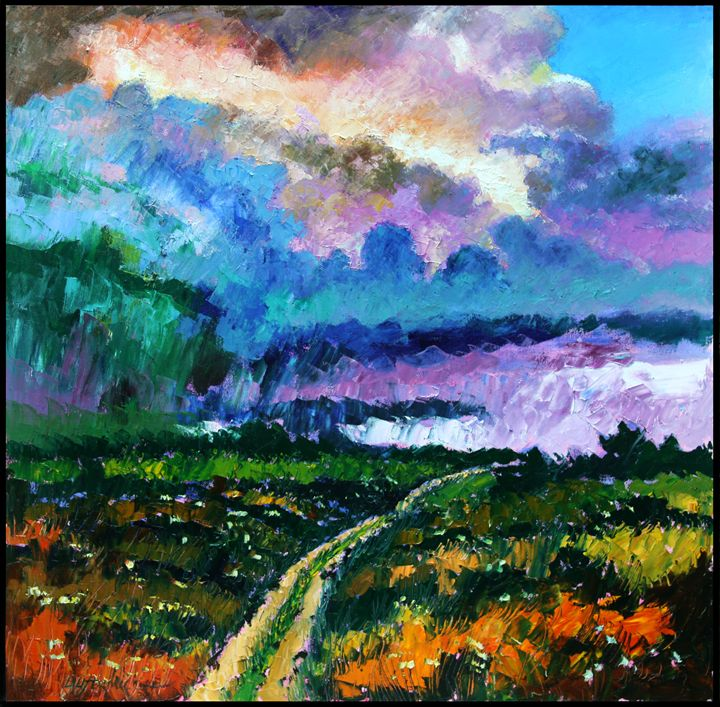 Stormy Road - Paintings by John Lautermilch