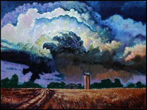 Storm Clouds Over Joplin - Paintings by John Lautermilch