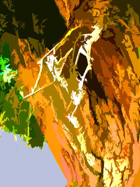 Tree Abstraction 2 - Paintings by John Lautermilch