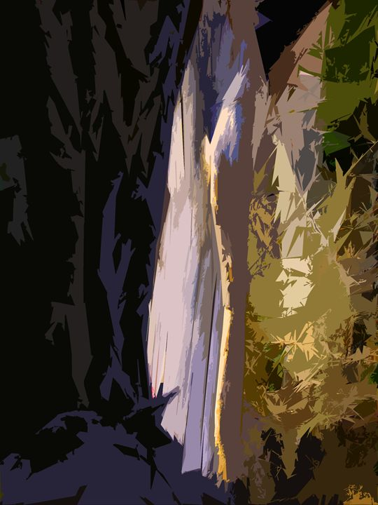 Tree Abstraction 4 - Paintings by John Lautermilch