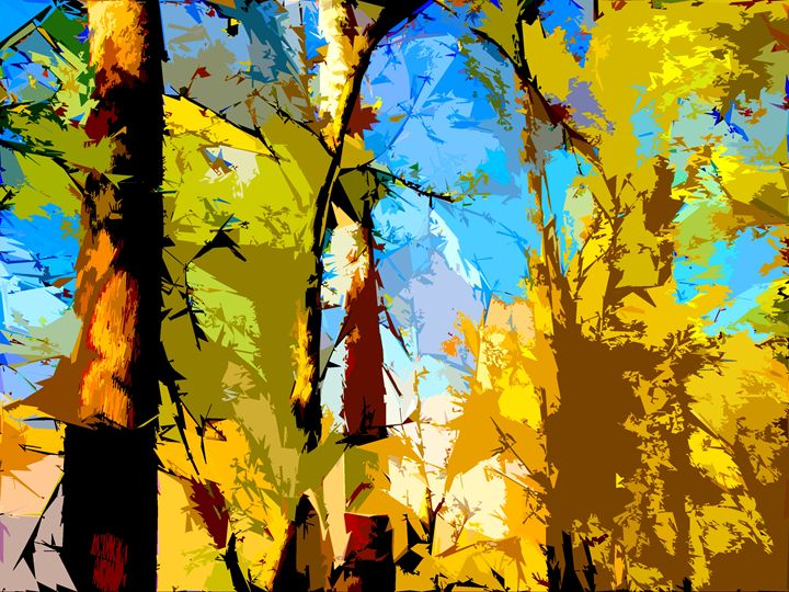 Tree Abstraction 5 - Paintings by John Lautermilch