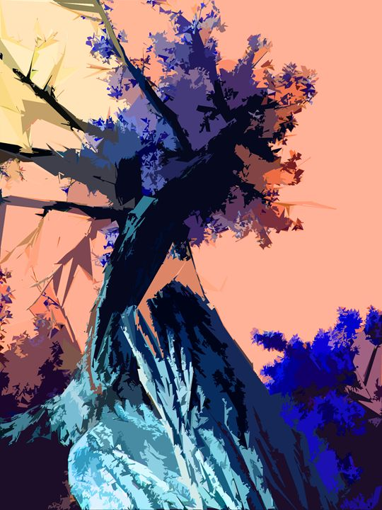 Tree Abstraction 7 - Paintings by John Lautermilch