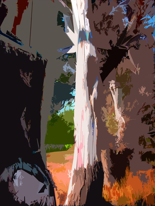 Tree Abstraction 11 - Paintings by John Lautermilch