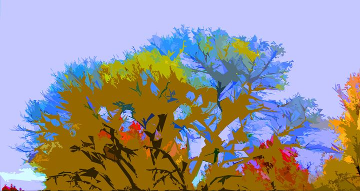 Tree Abstraction 17 - Paintings by John Lautermilch