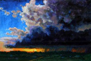 April Showers - Paintings by John Lautermilch