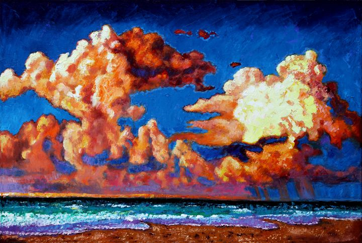 Storm Clouds Over Florida - Paintings by John Lautermilch