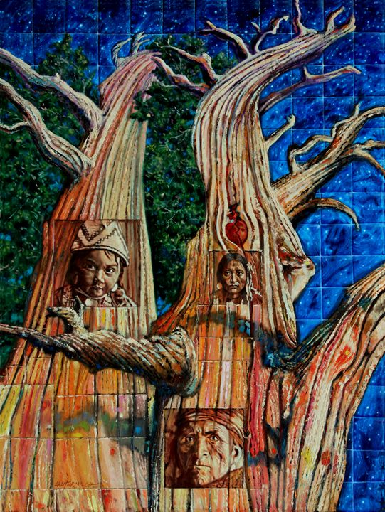 Vision of the Ancient Pine - Paintings by John Lautermilch
