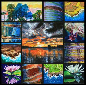 Dreaming of a Tropical Paradise - Paintings by John Lautermilch