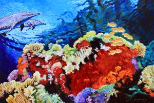 Ocean Garden - Paintings by John Lautermilch