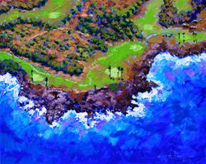 Golf Course in Paradise - Paintings by John Lautermilch