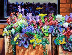 Flower Fireworks - Paintings by John Lautermilch