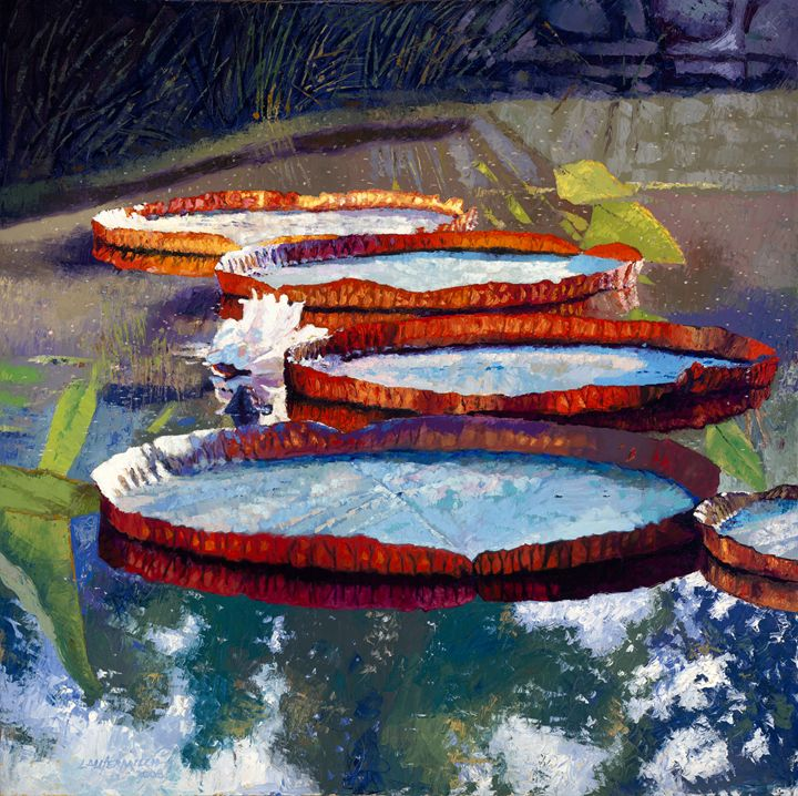 Summer Sunlight on Lily - Paintings by John Lautermilch