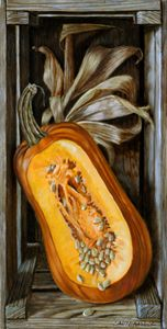 Fall Pumpkin - Paintings by John Lautermilch