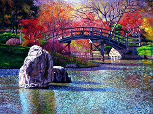 Fall in the Garden - Paintings by John Lautermilch