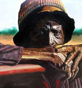 Black Farmer - Paintings by John Lautermilch