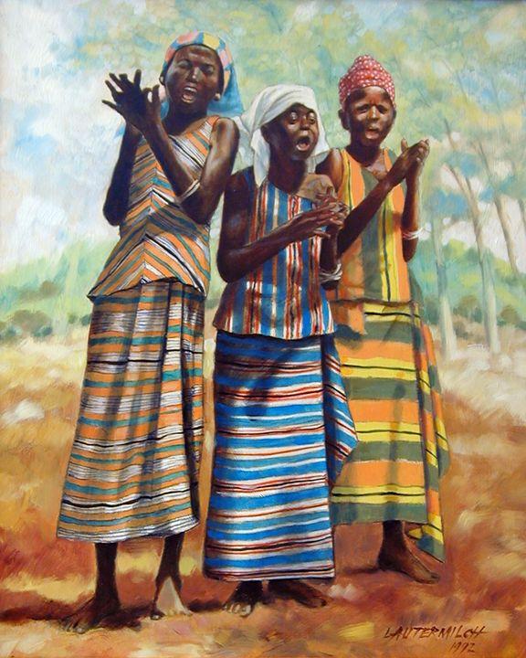 Joyful Girls - Paintings by John Lautermilch
