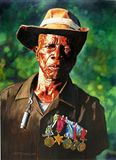 One Arm Soldier - Paintings by John Lautermilch