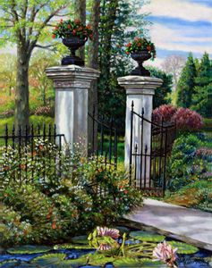 Shaw's Garden Gate - Paintings by John Lautermilch