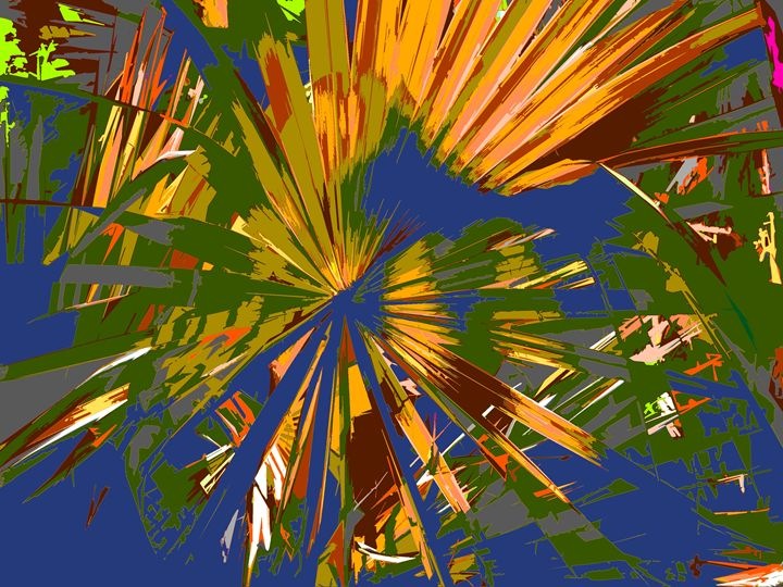 Palm Tree Pattern - Paintings by John Lautermilch