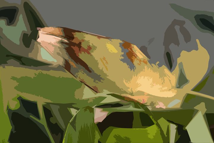 Leaf Abstraction 11 - Paintings by John Lautermilch