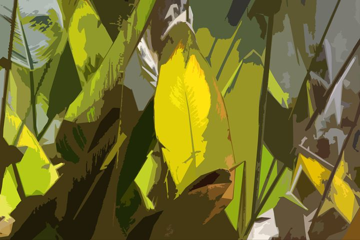 Leaf Abstraction 14 - Paintings by John Lautermilch