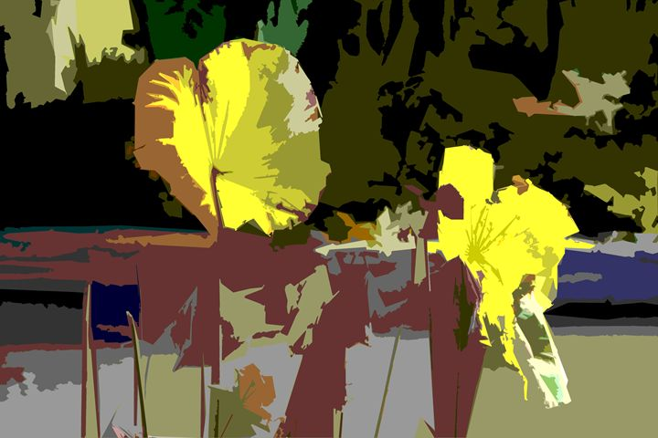Leaf Abstraction 17 - Paintings by John Lautermilch