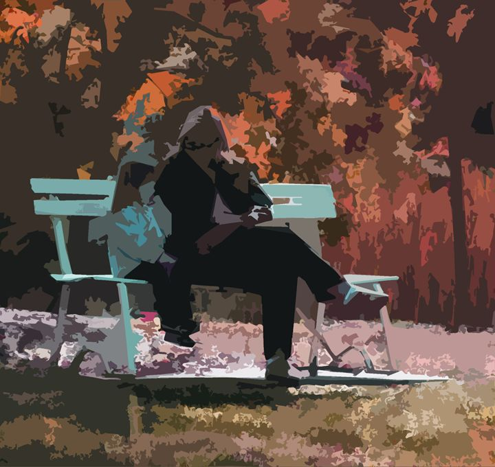 Fall Day with Mom - Paintings by John Lautermilch