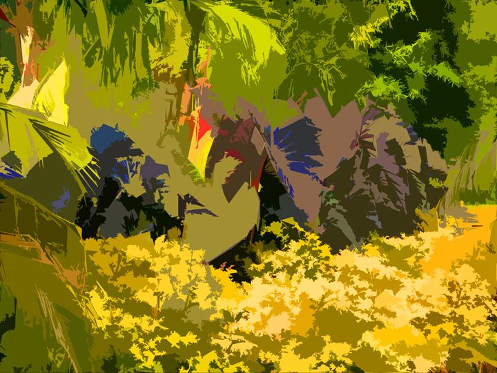 Leaf Abstraction 25 - Paintings by John Lautermilch