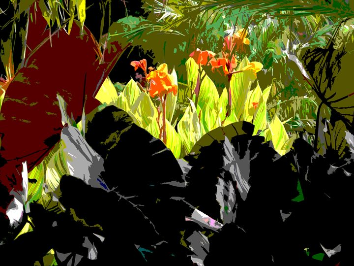 Leaf Abstraction 27 - Paintings by John Lautermilch