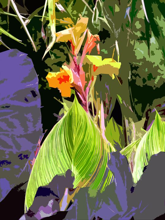 Leaf Abstraction 28 - Paintings by John Lautermilch