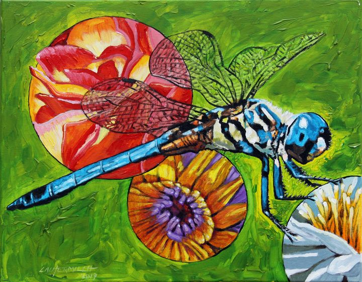 Dragonfly - Paintings by John Lautermilch