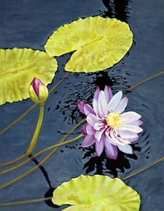 Purple Lily 41-2002 - Paintings by John Lautermilch