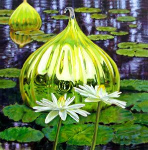 Glass Among the Lilies - Paintings by John Lautermilch