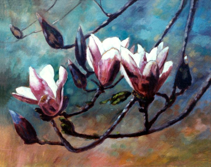 Tulip Tree - Paintings by John Lautermilch