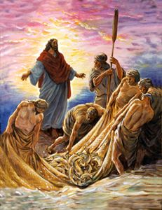 Jesus and the Fishermen - Paintings by John Lautermilch
