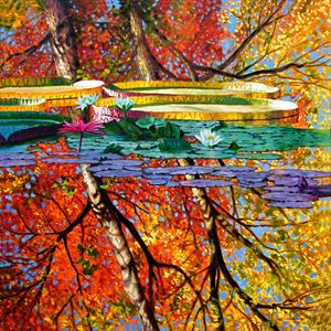 Fall Reflections - Paintings by John Lautermilch