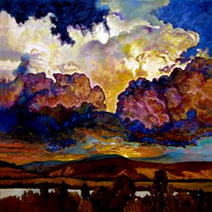 Evening Clouds Over the Valley - Paintings by John Lautermilch