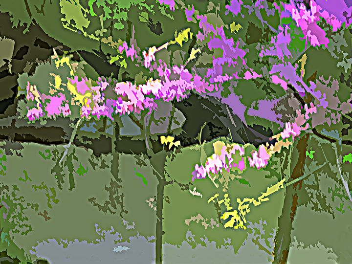 Flowers in the Woods - Paintings by John Lautermilch
