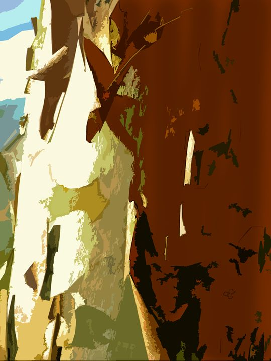 Peeling the Bark Back - Paintings by John Lautermilch