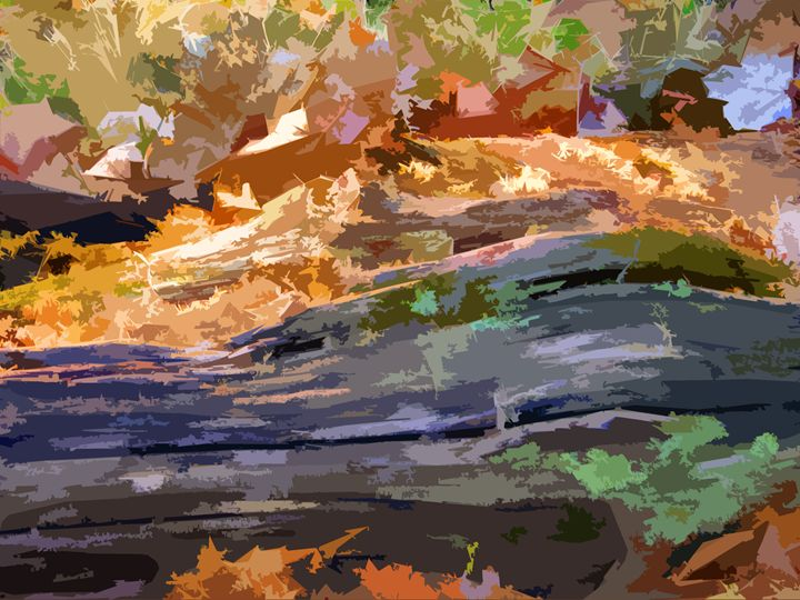Log in the Woods - Paintings by John Lautermilch