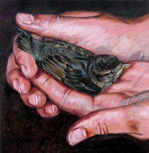 Fallen Sparrow - Paintings by John Lautermilch