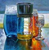 Sunlight Shining Through Glass - Paintings by John Lautermilch