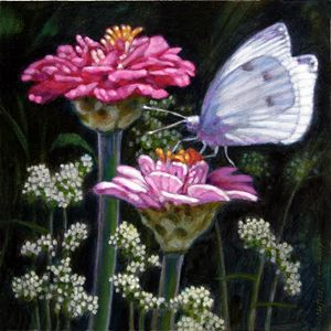 My Garden Friend - Paintings by John Lautermilch