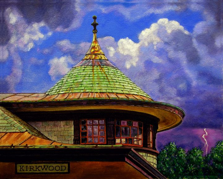 Kirkwood Train Station - Paintings by John Lautermilch