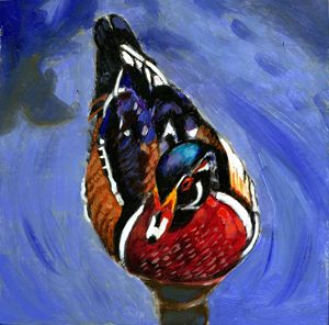 Painted Duck - Paintings by John Lautermilch