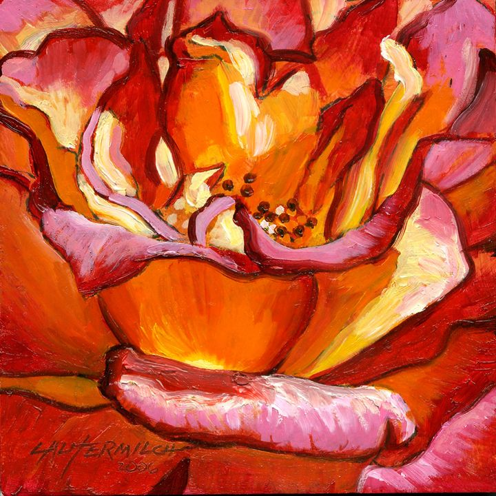 Heart of the Rose #2 - Paintings by John Lautermilch