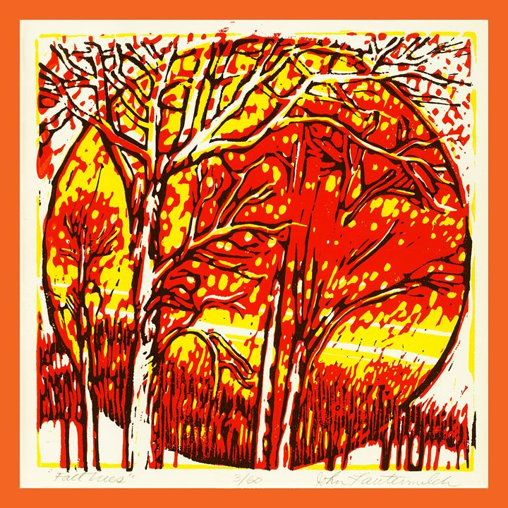Fall Sunset - Paintings by John Lautermilch