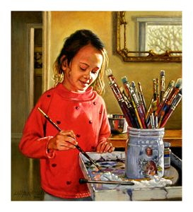 Young Artist - Paintings by John Lautermilch